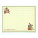 Nursery Rhyme Personalised Flat Note Cards 11 Cm X 14 Cm Invitation Card
