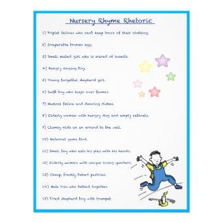 Nursery Rhyme Rhetoric Game - Boy Style Full Color Flyer
