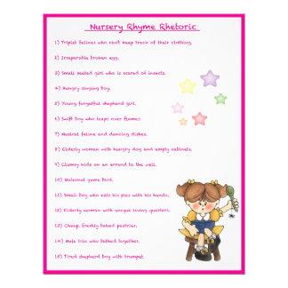 Nursery Rhyme Rhetoric Game - Girl Style Custom Flyer