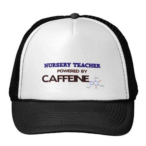 Nursery Teacher Powered by caffeine Mesh Hat