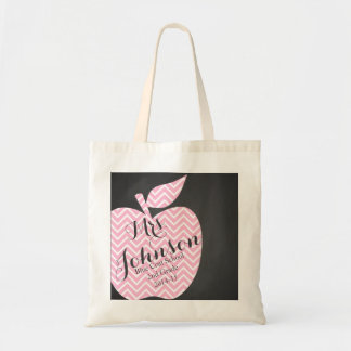 Nursery Teacher tote shopping book bag apple