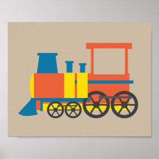 Nursery Train Print Poster