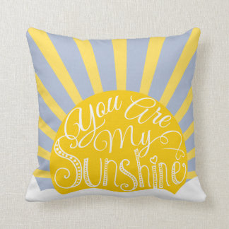 Nursery you are my sunshine pillow newborn decor