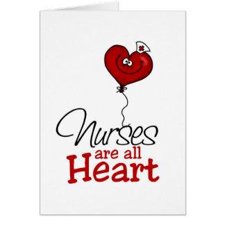 Nurses are all heart card