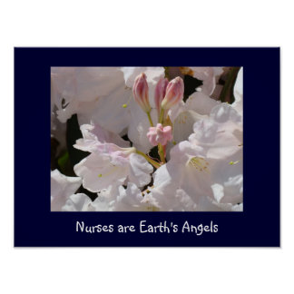 Nurses are Earth's Angels art print Rhododendrons