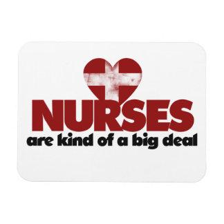 Nurses are kind of a big deal rectangular photo magnet