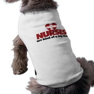 Nurses are kind of a big deal sleeveless dog shirt