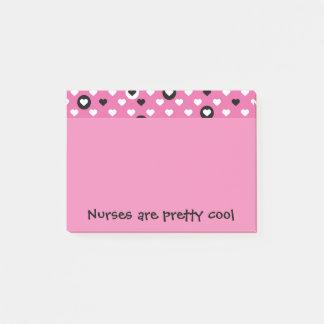 Nurses are pretty cool hearts post-it notes