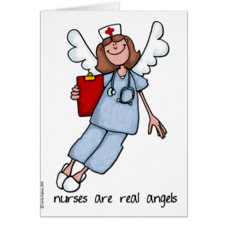 nurses are real angels card