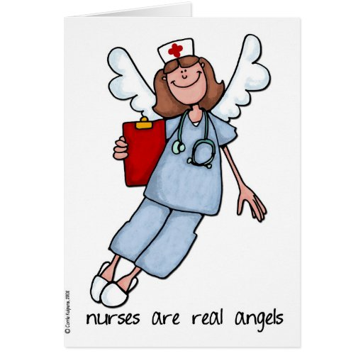 nurses are real angels cards