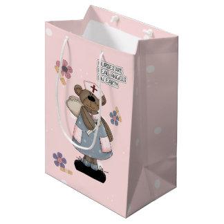 Nurses are Real Angels. Custom Gift Paper Bags