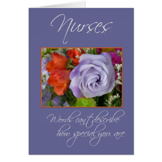 Nurses are Special-Colorful Flowers/Thank You Card