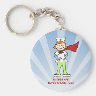 Nurses Are Superheroes Key Chain