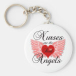 Nurses Are The Real Angels Basic Round Button Key Ring