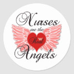 Nurses Are The Real Angels Classic Round Sticker