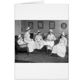 Nurses at Tea, early 1900s Card