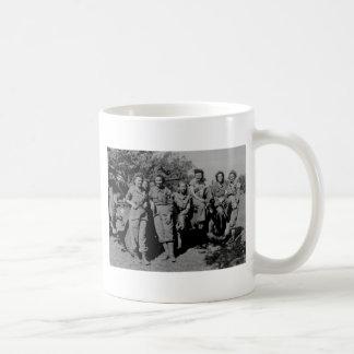 Nurses Beside Jeep WWII Basic White Mug