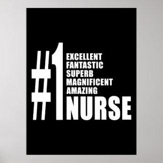 Nurses Birthdays Gifts : Number One Nurse Poster