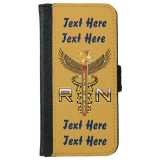 "Nurses Caduceus RN  Click ""More"" to edit text iPhone 6 Wallet Case"