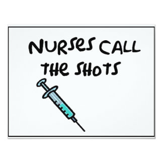 Nurses call the shots card