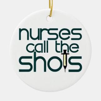 Nurses Call The Shots Ornament