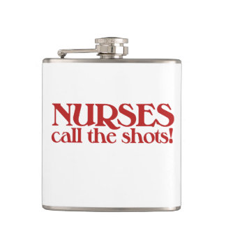Nurses Call the Shots Hip Flask