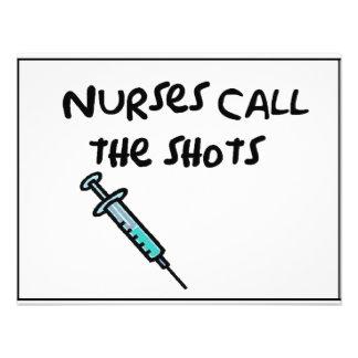 Nurses call the shots custom invites