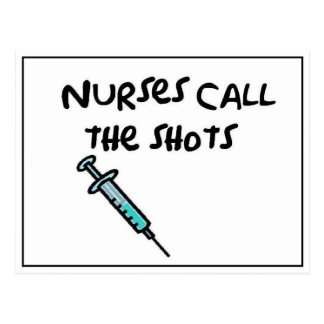 Nurses call the shots postcard