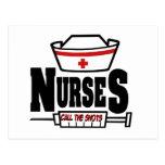 Nurses Call The Shots Postcard