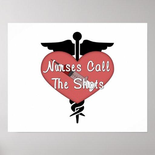 Nurses Call The Shots Print