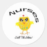 Nurses Call The Shots Round Sticker