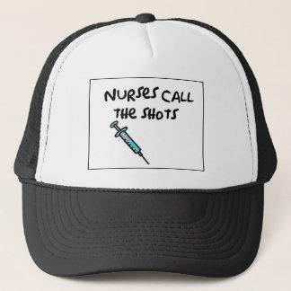 Nurses call the shots trucker hat