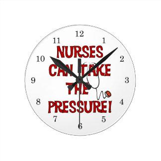 Nurses Can Take the Pressure Round Clock