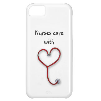 Nurses care with Heart - Nurses Gift - Personalize iPhone 5C Case