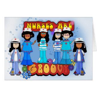 Nurse's Day Card - Groovy Nurse's