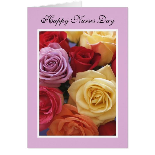 Nurses Day Card -- Rose Bouquet