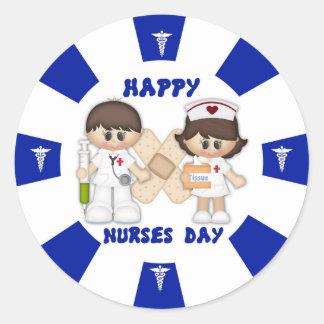 Nurses Day Classic Round Sticker, Glossy Round Sticker