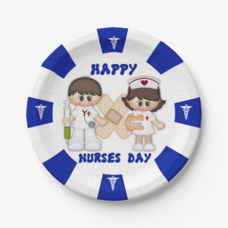 Nurses Day Custom Paper Plates 7""