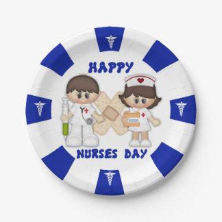 "Nurses Day Custom Paper Plates 7"" 7 Inch Paper Plate"
