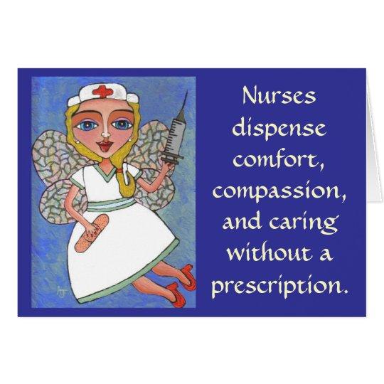 Nurses dispense comfort, compassion - card