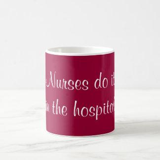 Nurses do it basic white mug