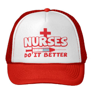 NURSES do it better! with needle and cross Cap