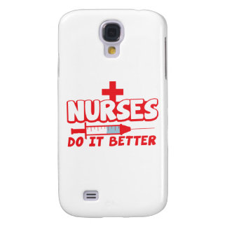 NURSES do it better! with needle and cross Galaxy S4 Case