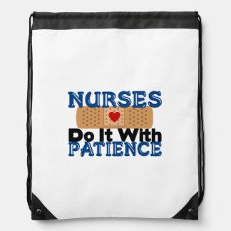 Nurses Do It With Patience Rucksacks