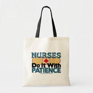 Nurses Do It With Patience Canvas Bag