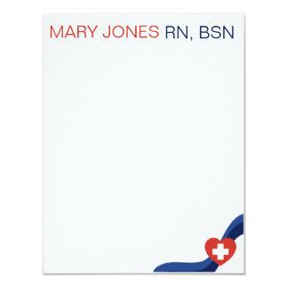 Nurses Flat Notecard 11 Cm X 14 Cm Invitation Card