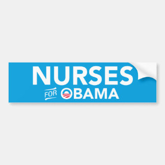 Nurses For Barack Obama Bumper Sticker (Blue)