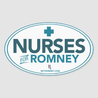 Nurses For Mitt Romney 2012 (Oval Sticker) Oval Sticker