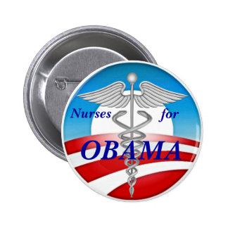 Nurses for OBAMA 6 Cm Round Badge
