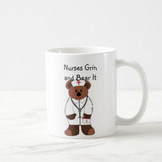 Nurses Grin and Bear It Coffee Mug